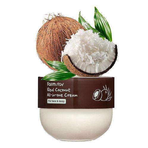 FarmStay Многофункциональный крем с кокосом Real Coconut All-In-One Cream