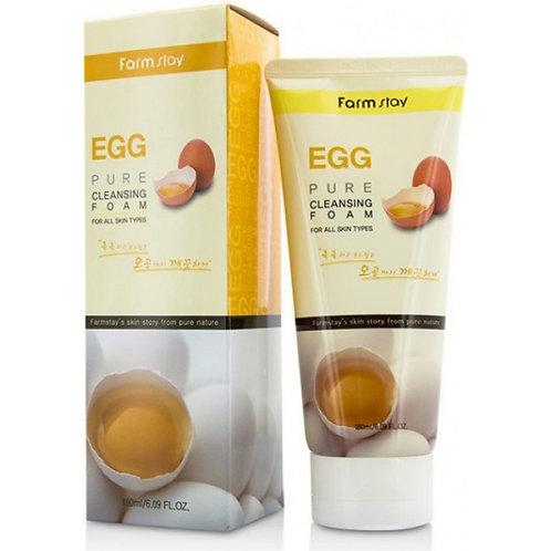 Farmstay Пенка для умывания с яйцом Egg Pure Cleansing Foam