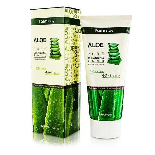 FARMSTAY Пенка для лица Алое Aloe Pure Cleansing Foam
