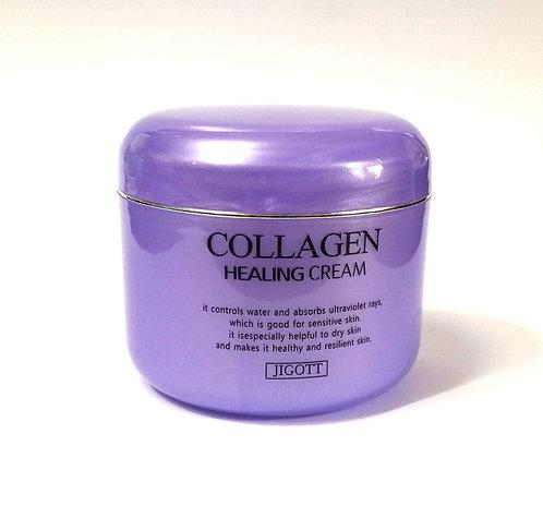 Jigott Крем с коллагеном collagen healing cream