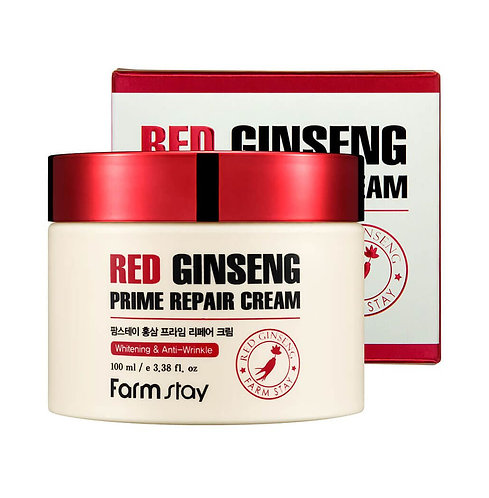 FarmStay Восстанавливающий крем с женьшенем Red Ginseng Prime Repair Cream