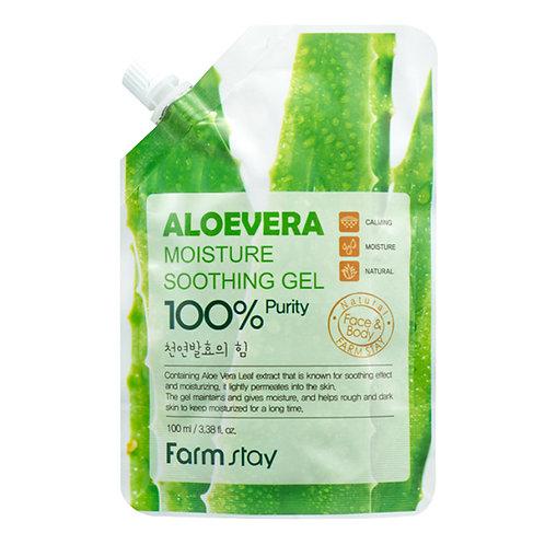 Алоэ-гель для тела FarmStay Aloevera Moisture Soothing Gel Pouch