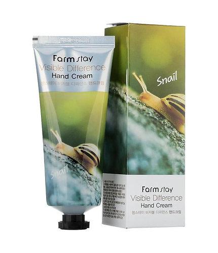 Farmstay Крем для рук с натуральным экстрактом улитки
