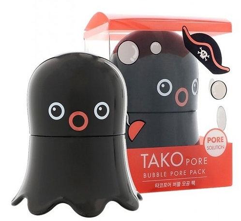 Tony Moly Глиняно-пузырьковая маска для очищения пор Tako Pore Bubble Pore Pack