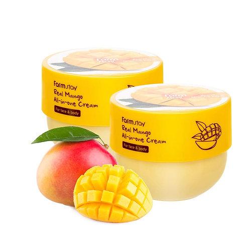 FARMSTAY Питательный крем-баттер с экстрактом мангоREAL MANGO ALL-IN-ONE CREAM