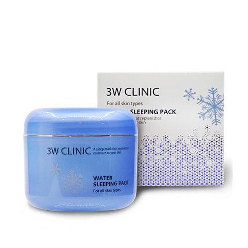 3W Clinic Ночная увлажняющая маска с розовой водой Water Sleeping Pack