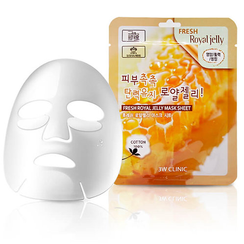 3W CLINIC Тканевая маска Fresh Royal Jelly Mask Sheet