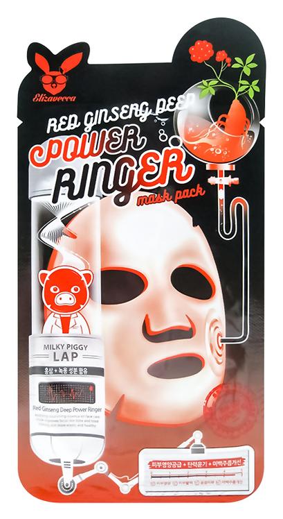 ELIZAVECCA Регенерирующая тканевая маска для лица с экстрактом красного женьшеня