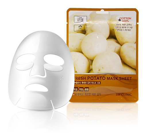 3W CLINIC Тканевая маска Fresh Potato Mask Sheet