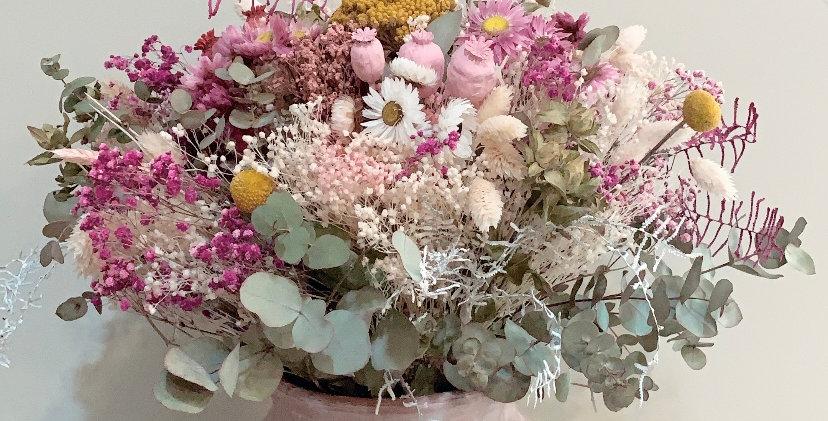 Ramo flor seca + jarrón