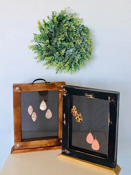 Wooden Earring Stands