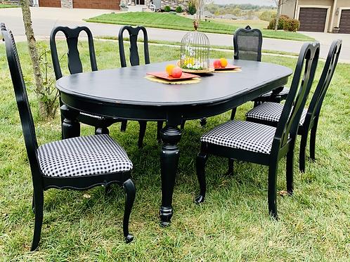 Elvira Table & 6 Chairs Set