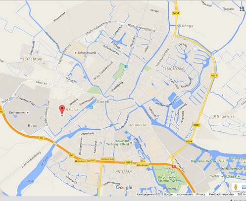 Plattegrond Sneek | locatie Coaching by Renate