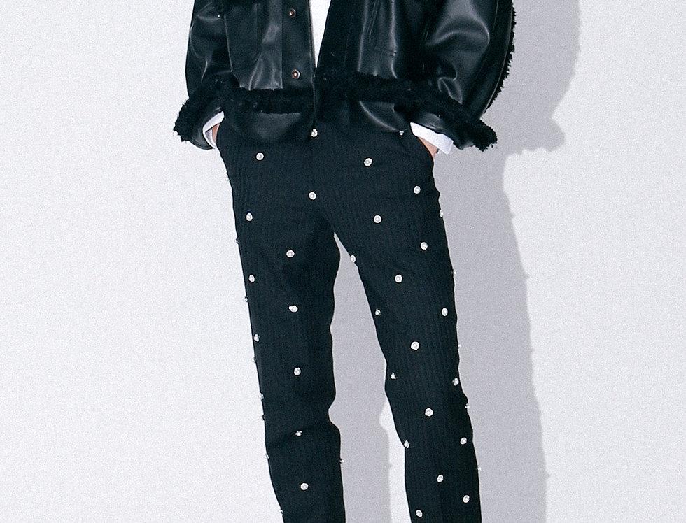 Tweed Leather Jacket