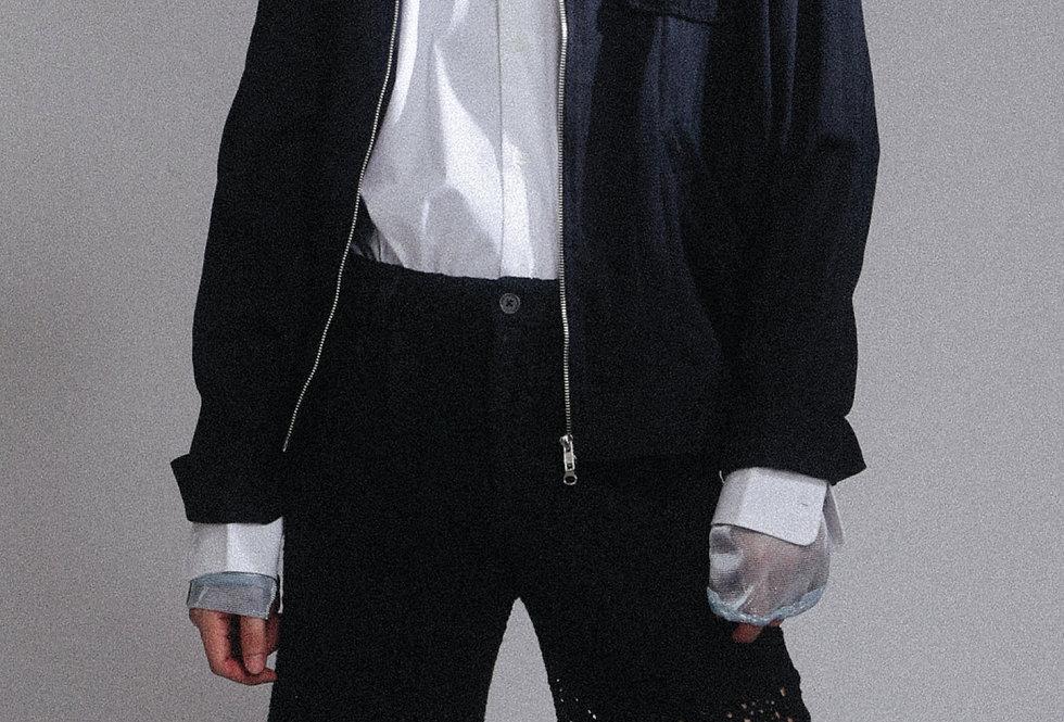 Lace-back Blouson Jacket