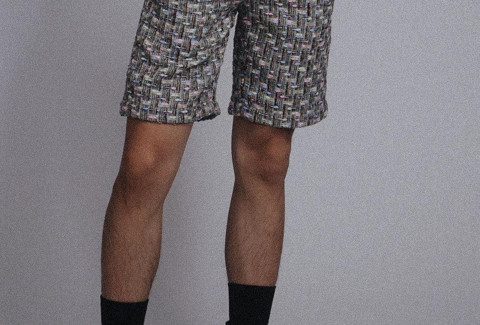 Greenish Tweed Shorts