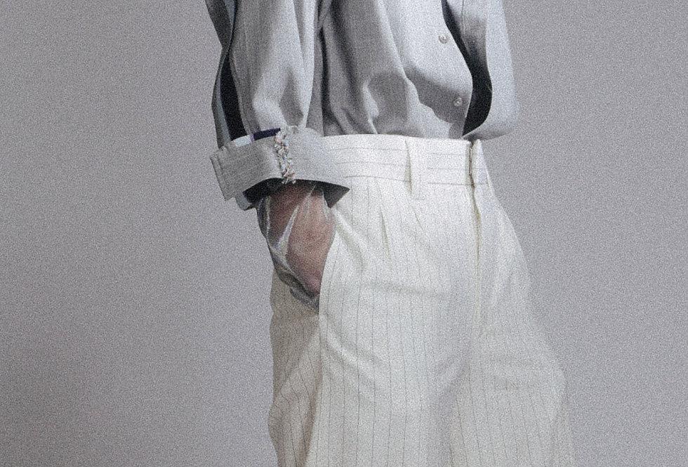 Grey Side Rib Shirt