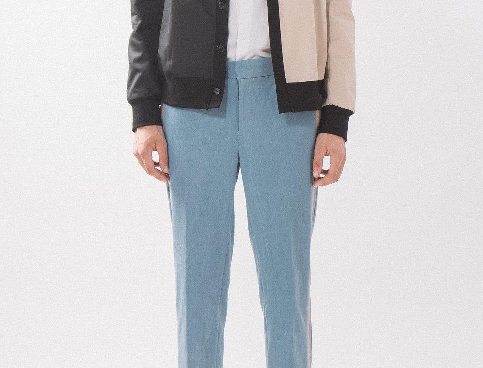 Bicolored Woven Cardigan