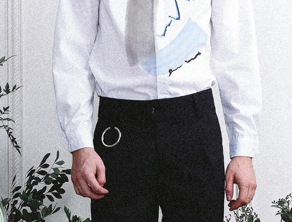 """White """"Narcissus""""Portrait Shirt"""
