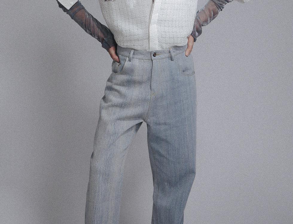Tweed Interlaced Mesh Bulk Shirt