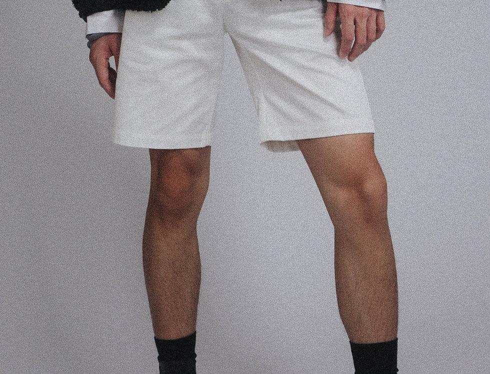 White Fringe Shorts