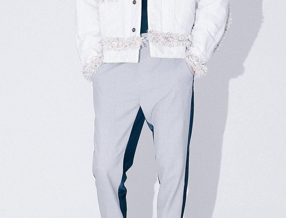 White Tweed Dating Jacket