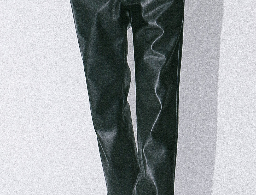 Leather Carrot Pants