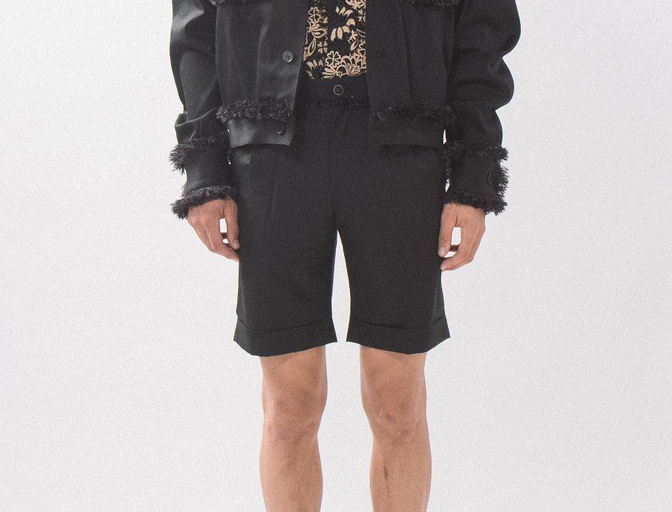 Black Tweed Trucker Jacket