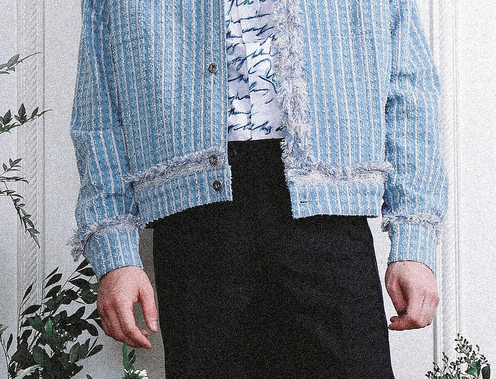 Washed Tweed Denim Jacket