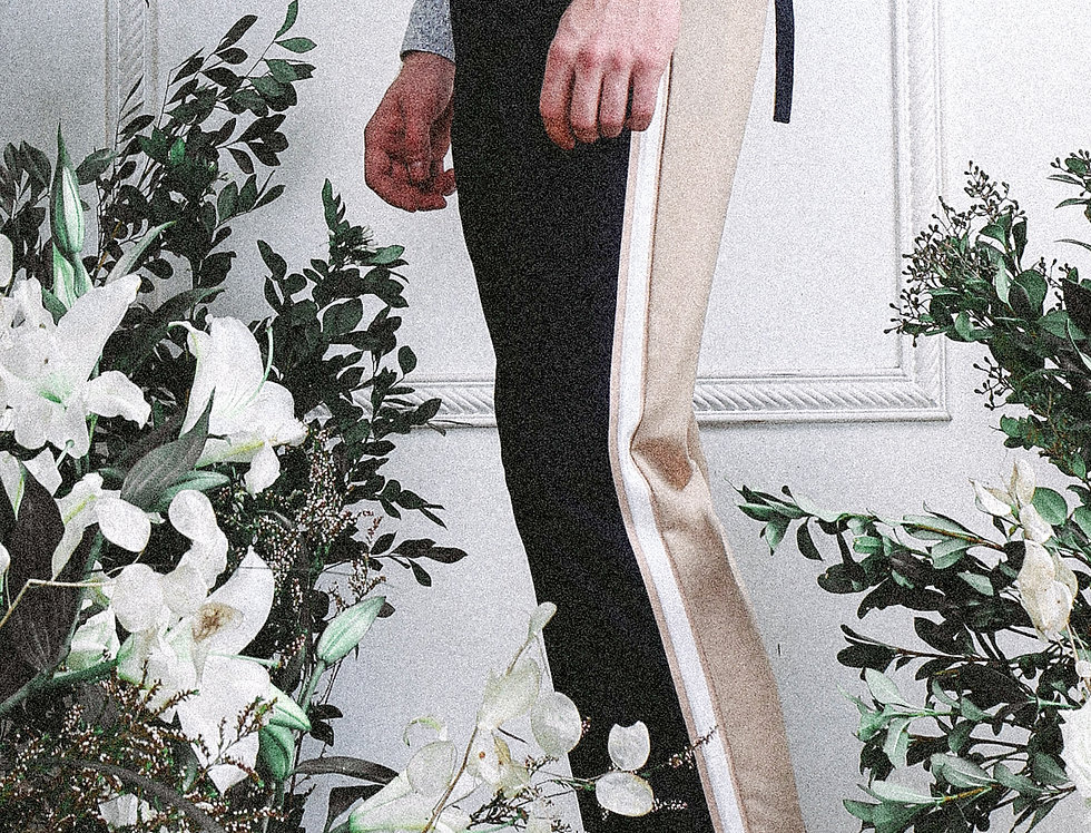 Bicoloured Side Rib Pants