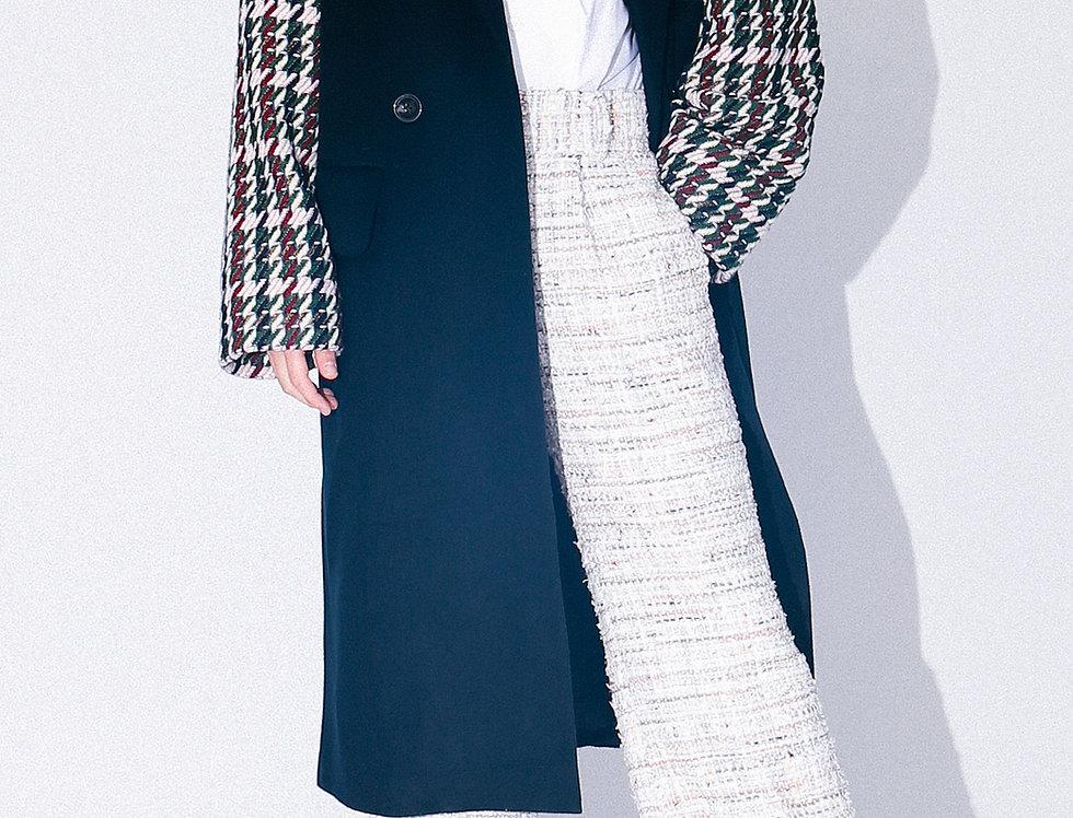 Tweed Sleeve Overcoat