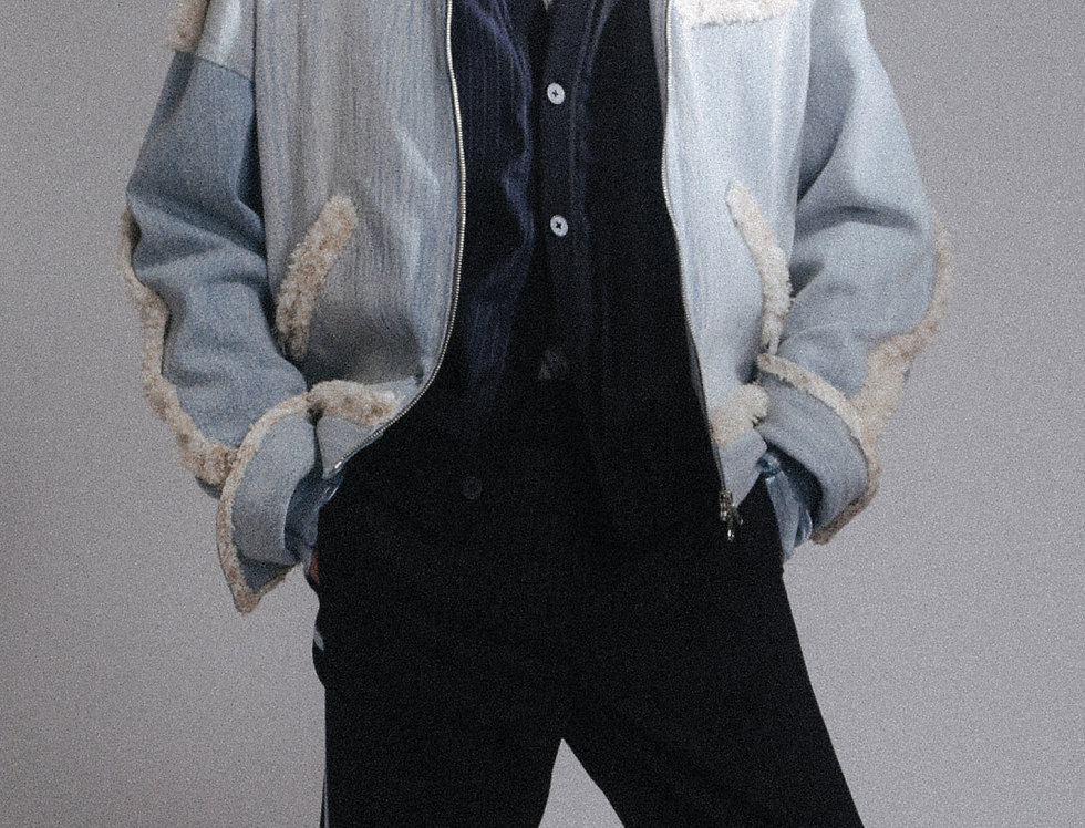 Tweed Fringe Jean Jacket