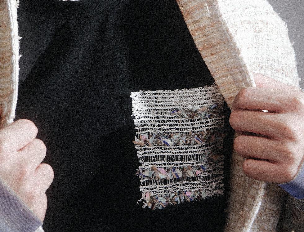 Tweed Interlaced Pocket Tee