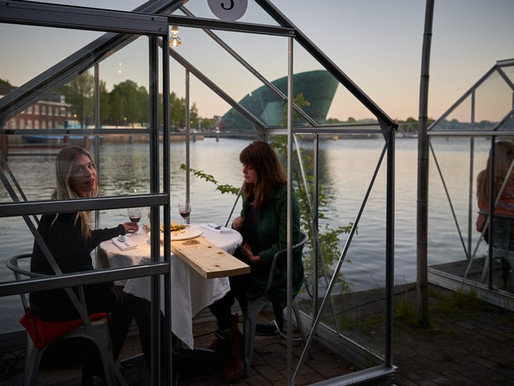 Restaurante holandés instaló cabañas anti Covid-19