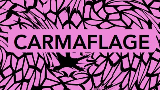 CARMAFLAGE Towel Black & Pink