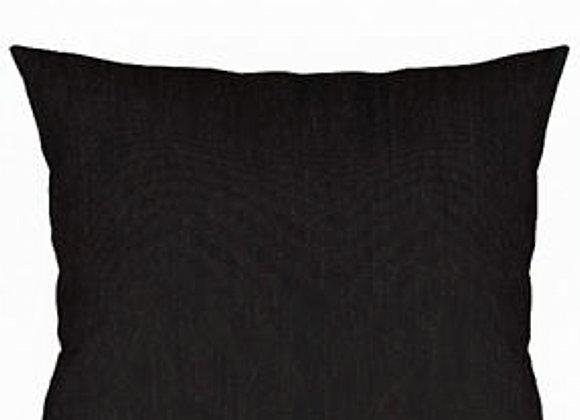 Funda Cojín Chenilla Negro 45x45