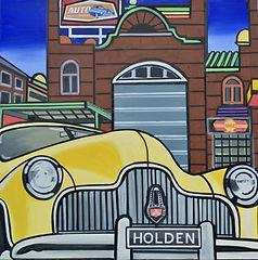 Australia's No.1. Holden,mixed media on