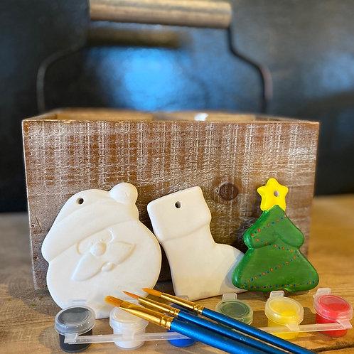 Ceramic Ornaments Santa Set - No Fire