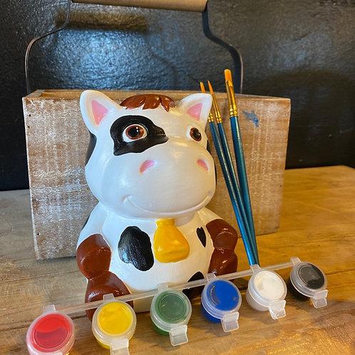 Ceramic Cow Bank - No Fire