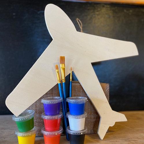 Paint Me Plane Wood Plaque