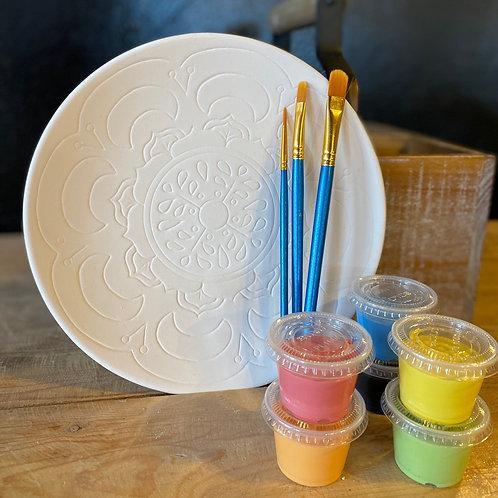 Ceramic Mandala Plate - Kiln Fire