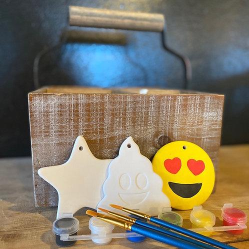 Ceramic Ornaments Emoji Set - No Fire
