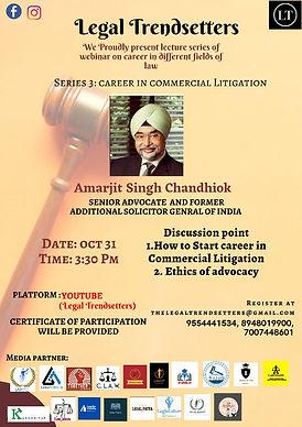 Webinar on how to enhance career in commercial litigation