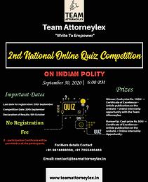 2nd National Online Quiz Competition by Team Attorneylex
