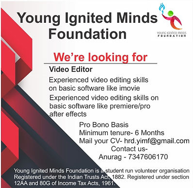 Call for Video Editor by YIMF