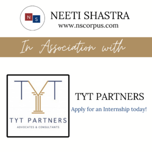 INTERNSHIP OPPORTUNITY WITH TYT PARTNERS BY NEETI SHASTRA ABOUT NEETI SHASTRA