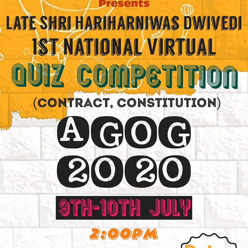 AGOG-2020, 1st National Virtual Law Quiz Competition by Institute of Law , Jiwaji University, Gwalior, M.P.