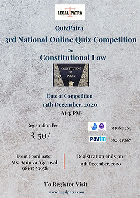 3rd National Quiz Competition by Legal Patra