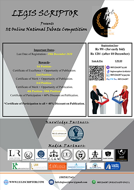 1st Online National Debate competition by Legis Scriptor