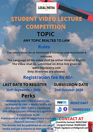 LEGAL PATRA  PRESENTS VIDEO LECTURE COMPETITION